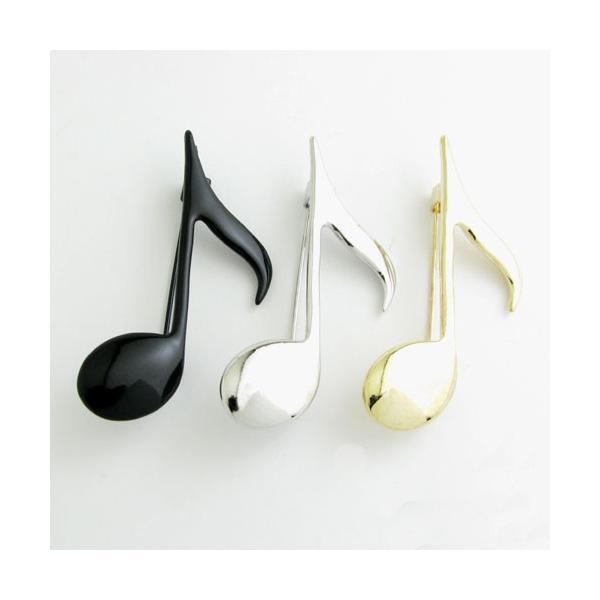 ブローチ 八分音符 8分音符 シンプル  ピンブローチ バッチ KS31009