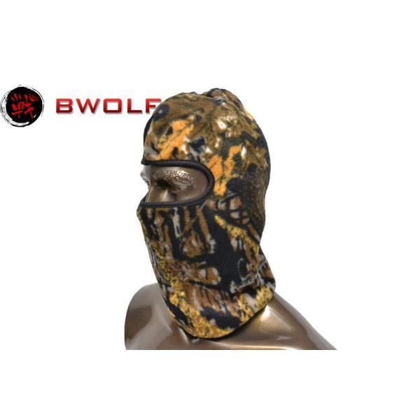BWOLF フリース生地 起毛 バラクラバ フェイスマスク フルフェイス 目出し帽 枯葉迷彩 落葉迷彩 (RZ-F-06)