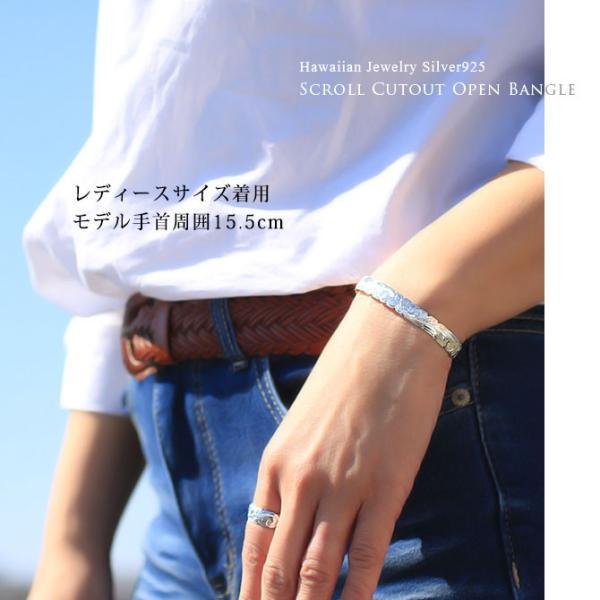 ハワイアンジュエリー バングル ブレスレット レディース メンズ 名入れ 刻印無料 シルバー925 ハワジュ オープンバングル B5003-8 millionbell 04