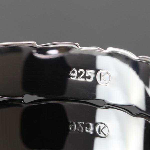 ハワイアンジュエリー ペアバングル ペアブレスレット 名入れ 刻印無料 シルバー925 ハワジュ 2本セット オープンバングル B5003-8P|millionbell|12