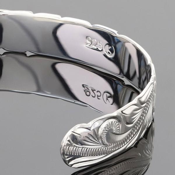 ハワイアンジュエリー バングル ブレスレット レディース メンズ 名入れ 刻印無料 シルバー925 ハワジュ オープンバングル B5080-8 millionbell 11
