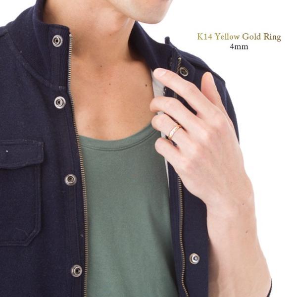 ハワイアンジュエリー ペアリング ピンクゴールド イエローゴールド 指輪 2本セット 14金 K14 刻印無料 ブランド ピンキーリング ハワジュ GMR1011-GMR1012P|millionbell|04