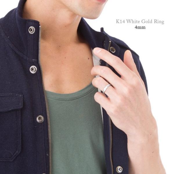 ハワイアンジュエリー ペアリング 指輪 刻印無料 K14ホワイトゴールド 14金 2個セット 1号〜19号 ピンキー ハワジュ ブランド GMR1013-1017P|millionbell|04