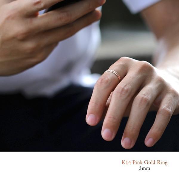 ハワイアンジュエリー リング 指輪 刻印無料 K14ピンクゴールド 14金 メンズ レディース 1号〜15号 ピンキー ハワジュ ブランド GMR1019|millionbell|04