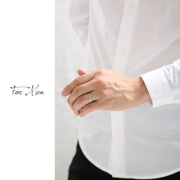 ハワイアンジュエリー 指輪 ホワイトゴールド K14 14金 レディース メンズ ブランド 結婚指輪 マリッジリング ハワジュ 刻印無料 GR201W|millionbell|04