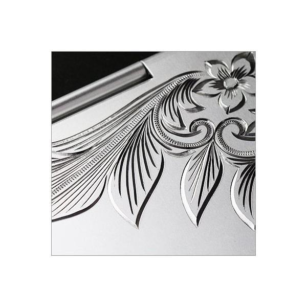 ハワイアンジュエリー 折りたたみコンパクトミラーL 刻印無料 名入れ ハワイアン彫り ミラー 鏡 BY THE SEA  mirror-l /送料無料|millionbell|03