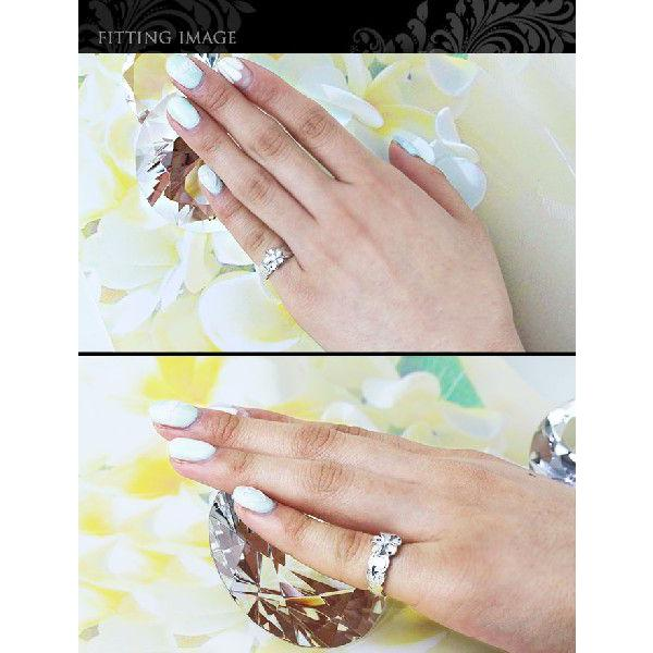 ハワイアンジュエリー 指輪  ピンキーリング 刻印無料 プルメリア ロジウムコーティング tmr1361 /ネコポス便で送料無料 シルバー925|millionbell|05