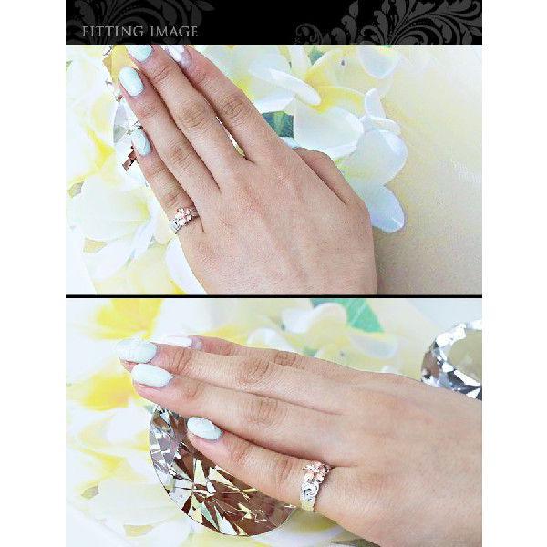 ハワイアンジュエリー 指輪 レディース リング シルバー925 シンプル ハワジュ ピンク プルメリア 刻印無料 TMR1367|millionbell|05