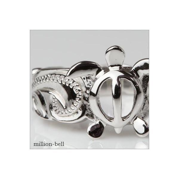 ハワイアンジュエリー 指輪 レディース リング シルバー925 シンプル ハワジュ ホヌ 刻印無料 TMR1371|millionbell|03