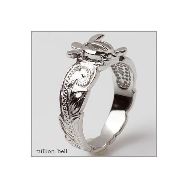 ハワイアンジュエリー 指輪 レディース リング シルバー925 シンプル ハワジュ ホヌ 刻印無料 TMR1371|millionbell|06