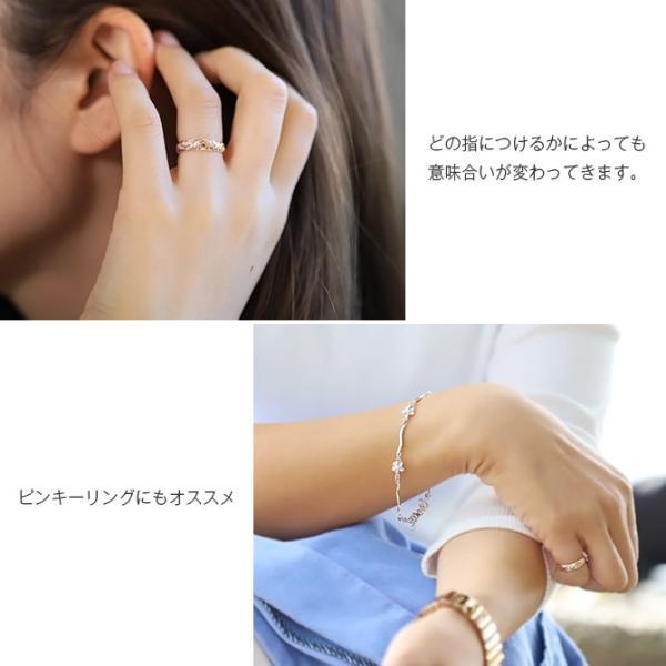 ピンキーリング ハワイアンジュエリー 指輪 レディース シルバー925 ブランド ハワジュ 刻印無料 1号〜15号 SR103 millionbell 07