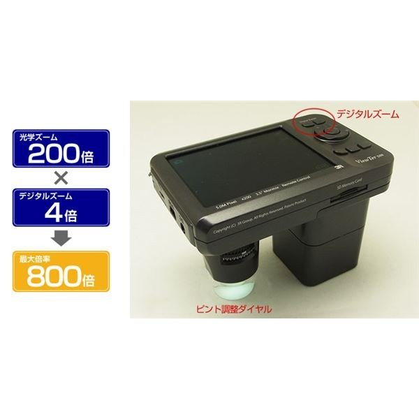 ポイント15倍3R スリーアールソリューション デジタル顕微鏡赤外線タイプ 3R-VIEWTER500-IR