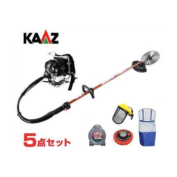 カーツ 草刈り機 エンジン式 XRP335+ナイロンカッター付き5点セット (背負式) [草刈機 刈払機 刈払い機]|minatodenki
