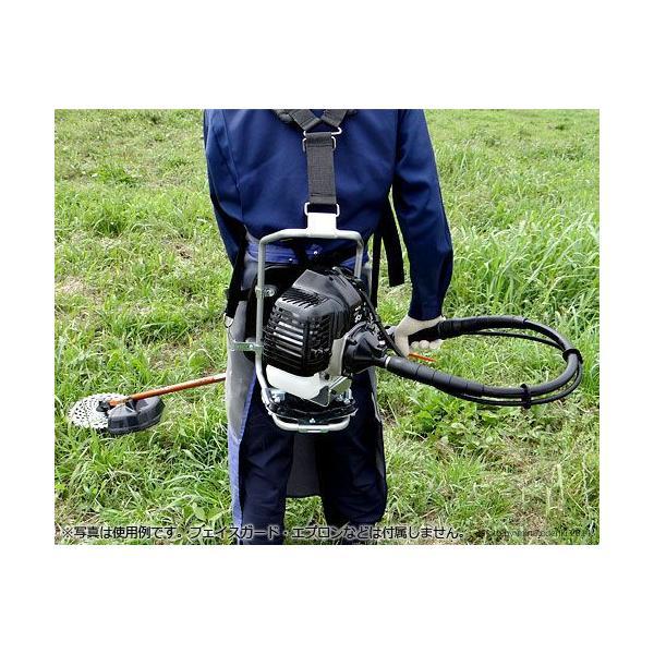 カーツ 草刈り機 エンジン式 XRP335+ナイロンカッター付き5点セット (背負式) [草刈機 刈払機 刈払い機]|minatodenki|03