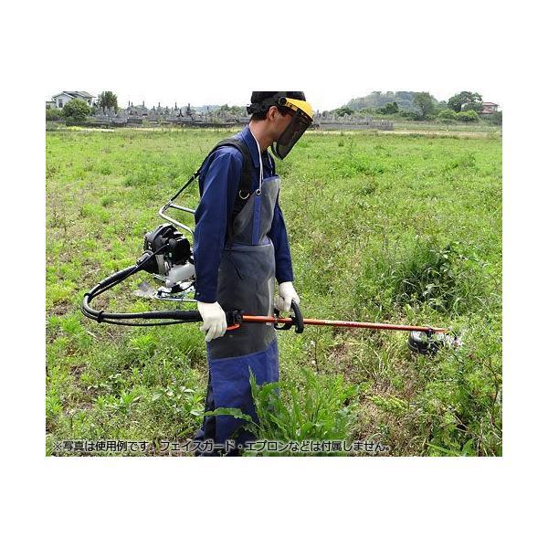 カーツ 草刈り機 エンジン式 XRP335+ナイロンカッター付き5点セット (背負式) [草刈機 刈払機 刈払い機]|minatodenki|04
