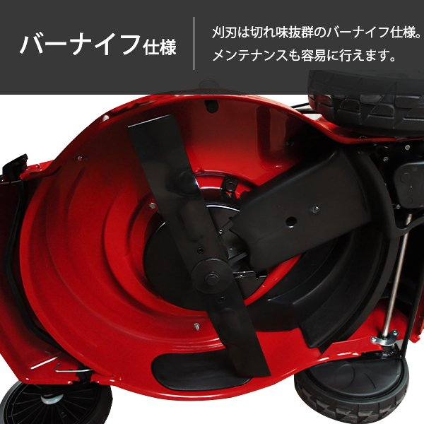 ミナト エンジン芝刈り機 自走式 LMC-460KZ (米国製エンジン/460mm) [エンジン式 芝刈機 モアー 草刈り機]|minatodenki|06