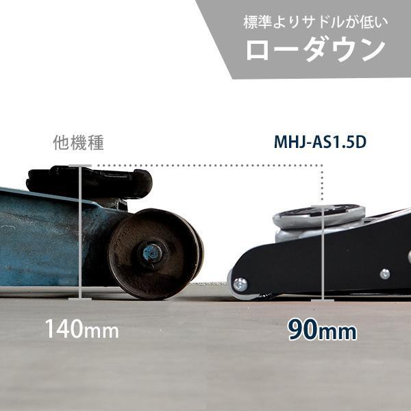 ミナト アルミ+スチール製ローダウンジャッキ 1.5t MHJ-AS1.5D|minatodenki|05