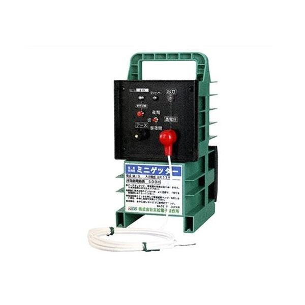 末松電子 電気柵 ゲッターシステム本器 ミニゲッター2 M-6 [電柵 電気牧柵 防獣用フェンス]|minatodenki