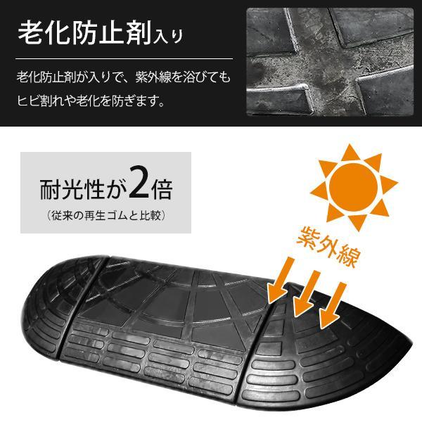 ミナト 高品質ゴム製 段差スロープ 10cm段差用 60cmストレート2個セット [屋外用 段差プレート 段差解消スロープ]|minatodenki|06