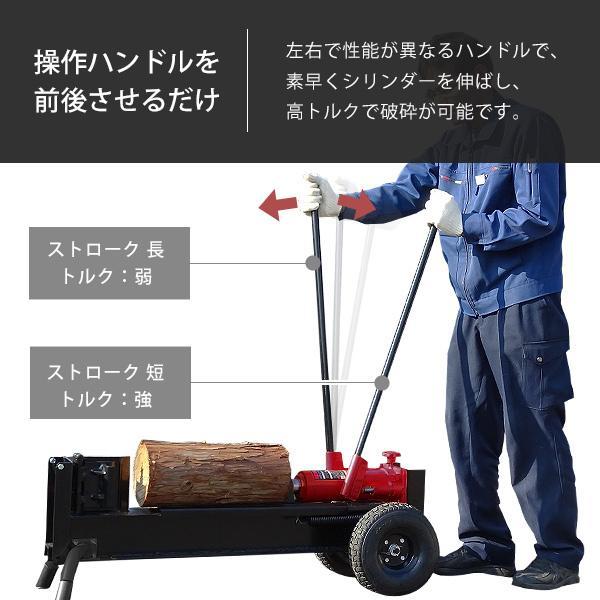ミナト 手動式油圧薪割り機 LS-12t (破砕力12トン)|minatodenki|03