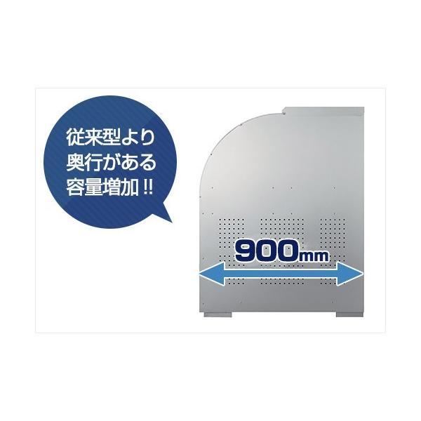 ダイケン ゴミ収集庫 クリーンストッカー CKS-1609型 ステンレスタイプ (容量1250L) [業務用 大型 ダストボックス 屋外用 ゴミ箱 ゴミ置き場]|minatodenki|02