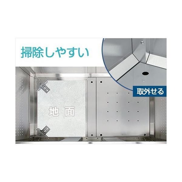 ダイケン ゴミ収集庫 クリーンストッカー CKS-1609型 ステンレスタイプ (容量1250L) [業務用 大型 ダストボックス 屋外用 ゴミ箱 ゴミ置き場]|minatodenki|05