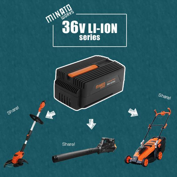 ミナト 36V充電式 電動草刈り機 GTE-3620Li (リチウムバッテリー+充電器付き) [コードレス 電気 草刈機 刈払機 刈払い機]|minatodenki|15