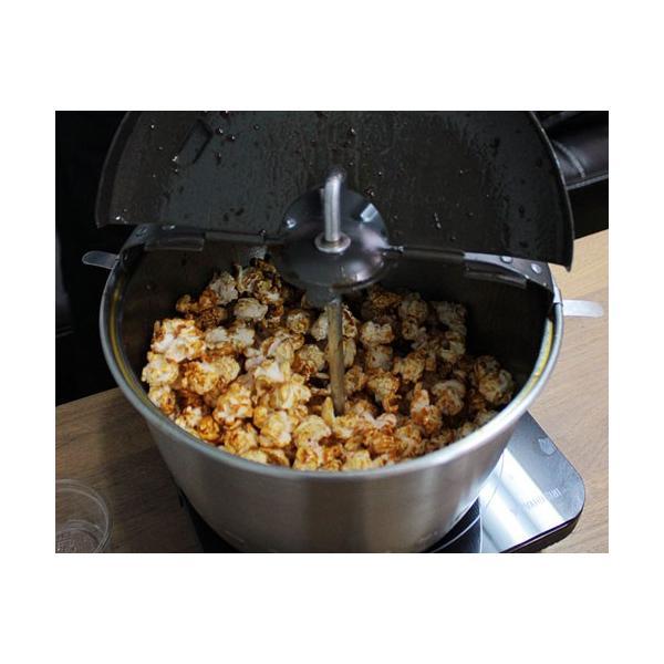 ステンレス製ポップコーンポッパー 4点セット (ポップコーン豆1kg+キャラメ ルシュガー1 kg+パーム油280g付) [ポップコーンメーカー] minatodenki 02