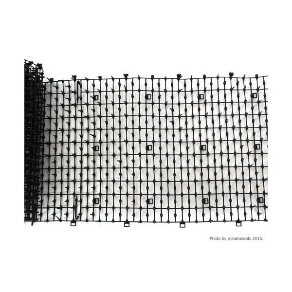 第一ビニール ネコよけ対策マット ここダメシート・ブラック 2m巻き (W300×L2000mm) [鳥よけ 防鳥用品 ここだめ] minatodenki 02