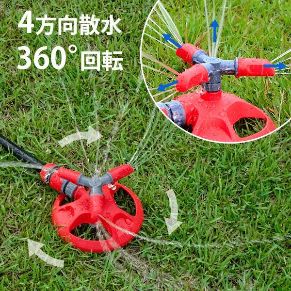 ミナト 回転式スプリンクラー GHL-SP02 [ガーデニング 園芸散水用ホースリール 散水ホース]|minatodenki|02