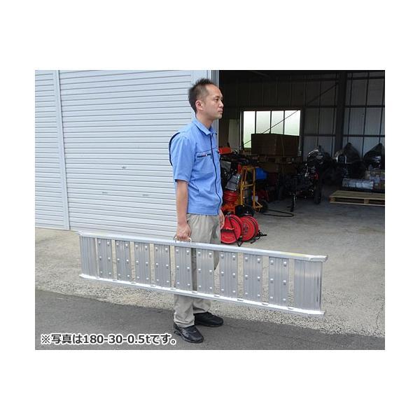 シンセイ アルミブリッジ 180-30-0.5t 《2本セット》 (積載荷重0.5t/全長182cm/有効幅30cm) [道板 ラダーレール スロープ トラック]|minatodenki|02