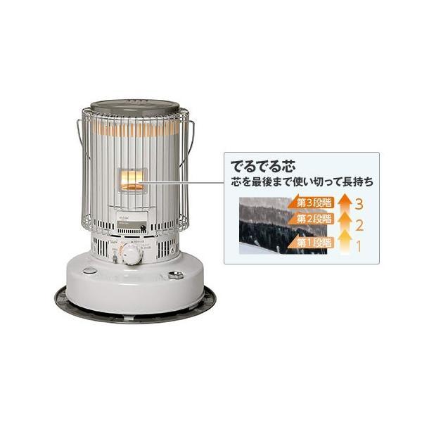 トヨトミ 対流形 石油ストーブ KS-67H(W) (ホワイト/コンクリート24畳) [TOYOTOMI 灯油ストーブ 対流型]|minatodenki|04