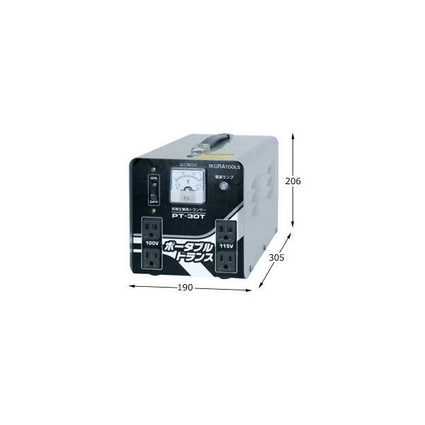 イクラ ダウントランス PT-30T (30A/昇降機能付) [変圧器 降圧トランス]|minatodenki|02