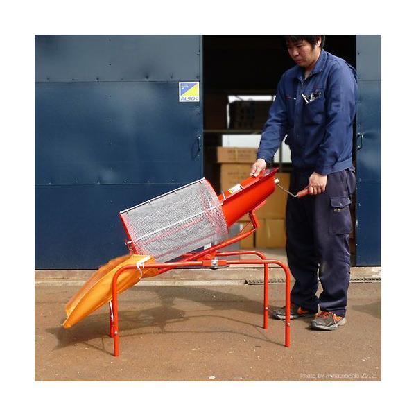 みのる 回転式 土ふるい機 SC-1 (手回し式/網目4mm) [砂ふるい機 篩機 回転ふるい機 回転フルイ]|minatodenki|02