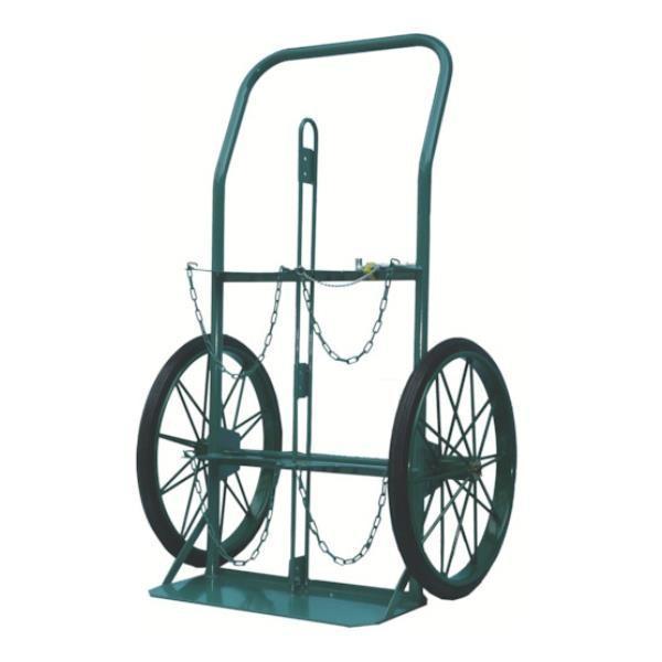 KS ボンベ運搬車(大車輪型、仕切板付)酸素7000L、アセチレン7.0kg用 KUOP [KU-O-P][r22][s9-039]