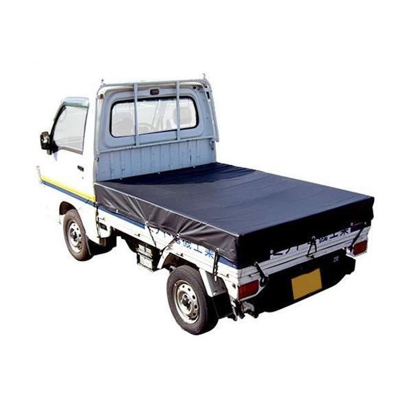 ナンエイ 軽トラック用 荷台シート ブラック (ゴムバンド+フック付き) [トラックシート 黒]|minatodenki