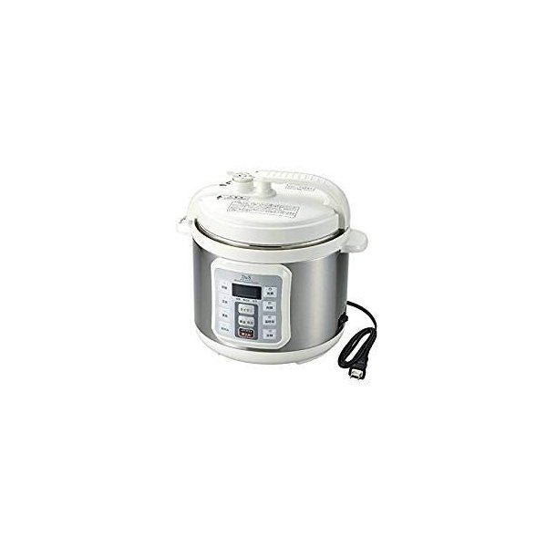 D&S 家庭用マイコン電気圧力鍋 4.0L STL-EC50 万能ピーラー&オレンジパワータオル付き|minatojapan-y02