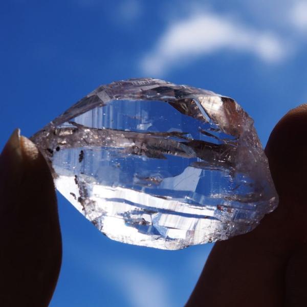 ガネーシュヒマール産 ヒマラヤ水晶 スーパークリスタル ダブルターミネーテッド 高品質 透明