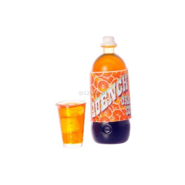 ミニチュア ドールハウス オレンジソーダ&グラスセット ミニチュア小物