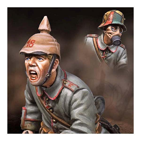 第一次世界大戦 ドイツ軍 追撃する歩兵 1915年(ヘッド2種入 ...