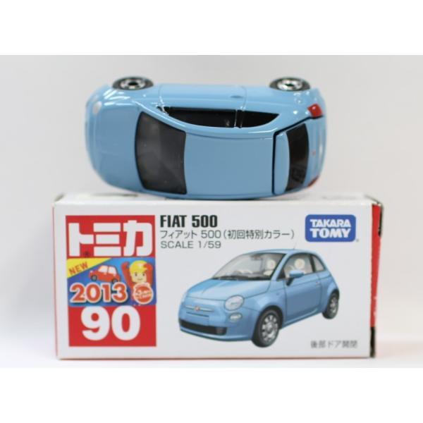 トミカ No.90 フィアット 500 箱 *初回特別カラー マーク切り取り2400010033278|minicars