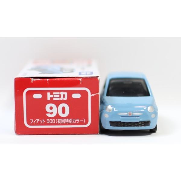 トミカ No.90 フィアット 500 箱 *初回特別カラー マーク切り取り2400010033278|minicars|02