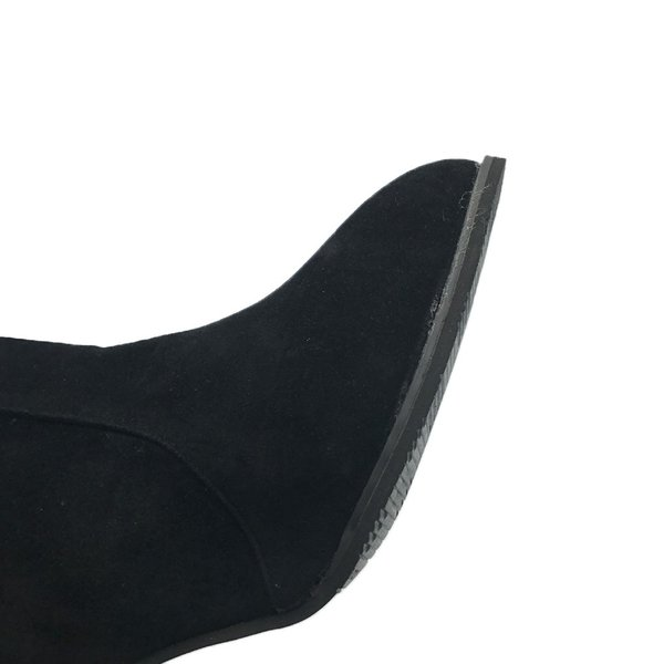 ブーツ ショートブーツ レディース 靴 スエード調 ヒール 美脚 結婚式