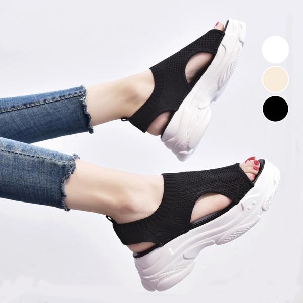 サンダル レディース 厚底 メッシュ スポーツサンダル 通気性 韓国風 カジュアル 歩きやすい|miniministore