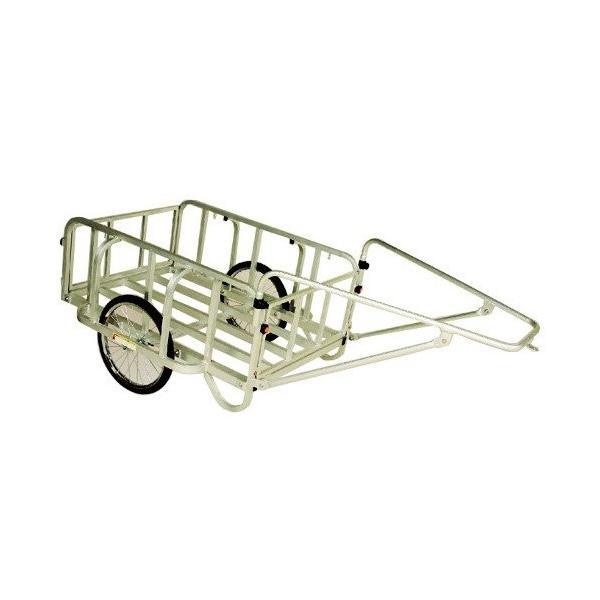 【代引不可】アルミ製 大型リヤカー 輪太郎 BS-1208II<ハラックス>