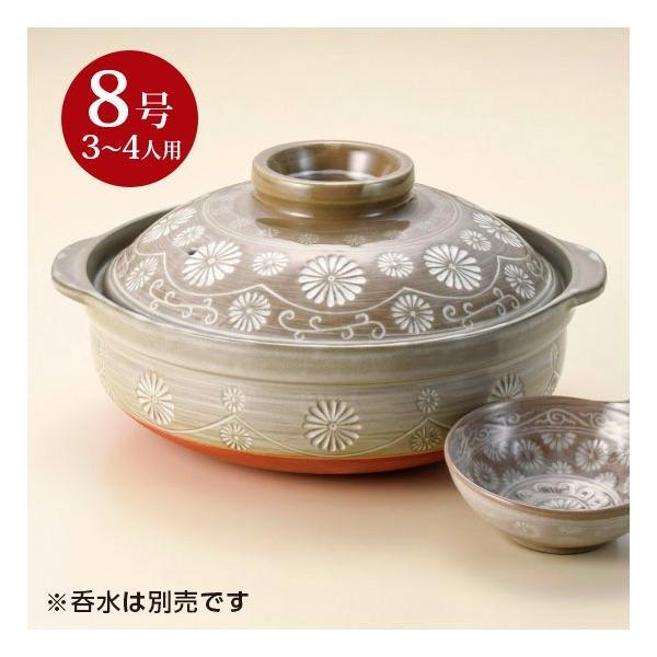 五十鈴三島8号鍋 和食器 土鍋 業務用 約29cm 和食 和風 鍋料理 おでん minnano-souko