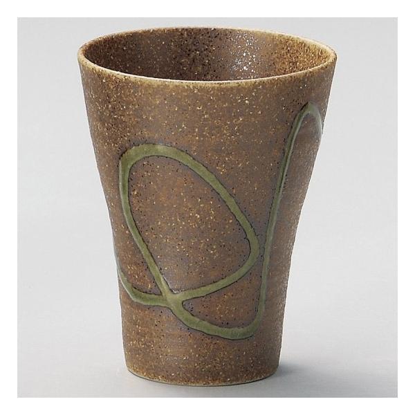 信楽風焼酎カップ目盛付 和食器 フリーカップ 業務用 約9.7×12.3cm 和バル 喫茶店 アイスコーヒー minnano-souko
