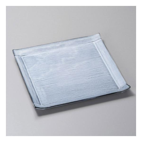 青カスミ角皿 大 皿 和皿 プレート 角皿 中皿 和食器 角皿(中)18cm〜25cm 業務用 約24cm|minnano-souko