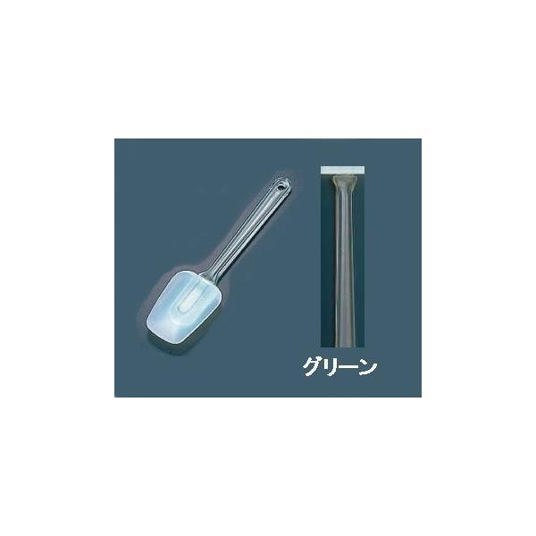 スコップ型 シリコンゴム製 カラーハンドクリーナー スパチュラ  中 グリーン(8-0427-0604)