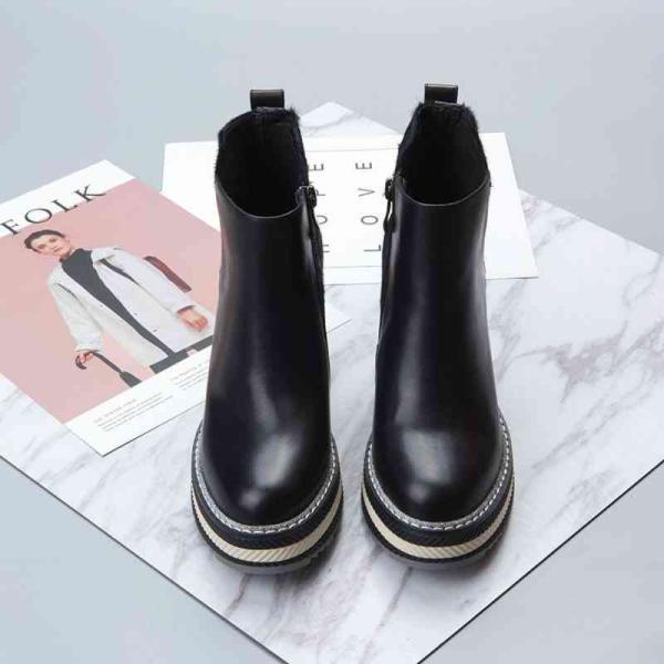 ウォーキングシューズ ブーツ レディース レザー 本革靴 軽量 カジュアル 予約商品